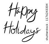handmade winter lettering happy ...   Shutterstock .eps vector #1176243304