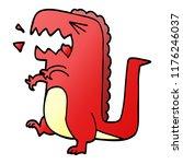 cartoon doodle roaring dinosaur | Shutterstock .eps vector #1176246037