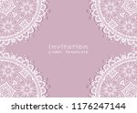 invitation or card template... | Shutterstock .eps vector #1176247144