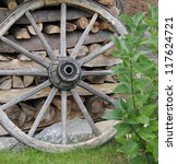 Antique Wagon Wheel  At The...