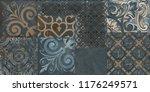 vintage green italian tile | Shutterstock . vector #1176249571