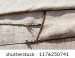 Small photo of Closeup of ropes securing a yurt