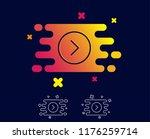 forward arrow line icon. next... | Shutterstock .eps vector #1176259714