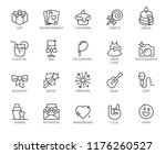 set of 20 linear icons on theme ... | Shutterstock .eps vector #1176260527