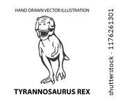 dinosaur. angry tyrannosaurus... | Shutterstock .eps vector #1176261301