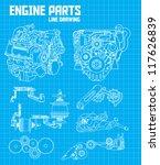 engine parts | Shutterstock .eps vector #117626839