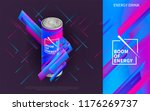 pattern with energy drink.... | Shutterstock .eps vector #1176269737