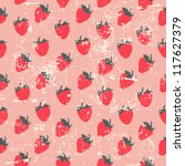 seamless strawberry pattern in... | Shutterstock .eps vector #117627379
