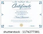 certificate or diploma retro... | Shutterstock .eps vector #1176277381