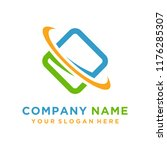 faster the future logo template ... | Shutterstock .eps vector #1176285307