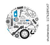 spare parts  expertise and... | Shutterstock .eps vector #1176289147
