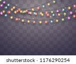 christmas lights isolated...   Shutterstock .eps vector #1176290254
