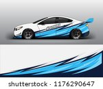 racing car wrap. blue abstract... | Shutterstock .eps vector #1176290647