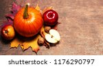 thanksgiving background with... | Shutterstock . vector #1176290797