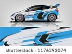 racing car wrap. blue abstract... | Shutterstock .eps vector #1176293074