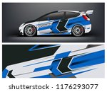 racing car wrap. blue abstract... | Shutterstock .eps vector #1176293077