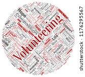 vector conceptual volunteering  ... | Shutterstock .eps vector #1176295567