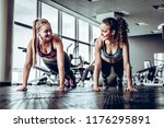 fitness  sport  exercising and... | Shutterstock . vector #1176295891