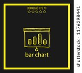 bar chart  sketch vector icon