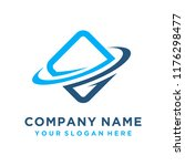 faster the future logo template ... | Shutterstock .eps vector #1176298477
