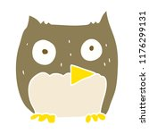 flat color illustration of owl | Shutterstock .eps vector #1176299131