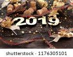 happy new year 2019 | Shutterstock . vector #1176305101