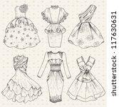 set of elegant evening hand... | Shutterstock .eps vector #117630631