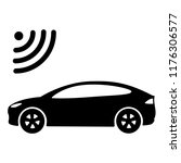 connected car icon. car side...   Shutterstock . vector #1176306577