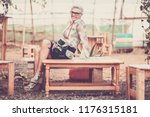 mature senior adult woman... | Shutterstock . vector #1176315181