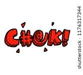 cartoon doodle swear word   Shutterstock .eps vector #1176317344
