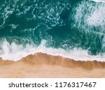 aerial view to beach on the... | Shutterstock . vector #1176317467