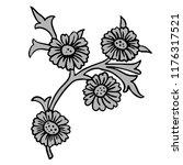 vintage victorian floral... | Shutterstock .eps vector #1176317521