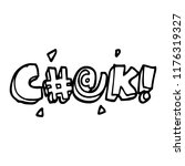 line drawing cartoon swear word   Shutterstock .eps vector #1176319327