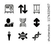 double icons set with... | Shutterstock .eps vector #1176320407