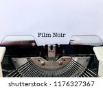 film noir  caption title for... | Shutterstock . vector #1176327367