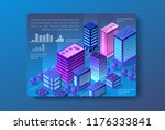 the isometric city with... | Shutterstock .eps vector #1176333841