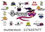 happy halloween flat set | Shutterstock .eps vector #1176337477