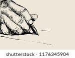 writing hand vector illustration | Shutterstock .eps vector #1176345904