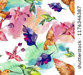 sky bird colorful colibri in a... | Shutterstock . vector #1176346387