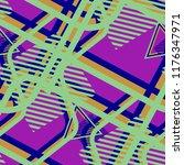 seamless pop art pattern.... | Shutterstock .eps vector #1176347971