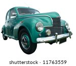 1952 jowett javelin isolated... | Shutterstock . vector #11763559