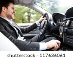 man driving his car | Shutterstock . vector #117636061