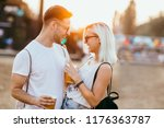 young couple at the music... | Shutterstock . vector #1176363787