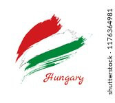 painted grunge flag or hungary... | Shutterstock .eps vector #1176364981