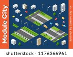 vector isometric urban... | Shutterstock .eps vector #1176366961