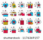 gifts line icons. set of... | Shutterstock .eps vector #1176369157