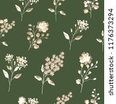 seamless pattern with flowers... | Shutterstock . vector #1176373294