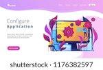 people configure the... | Shutterstock .eps vector #1176382597