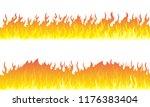 cartoon fire flame frame...   Shutterstock .eps vector #1176383404