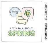 let's talk about spring doodle... | Shutterstock .eps vector #1176384304